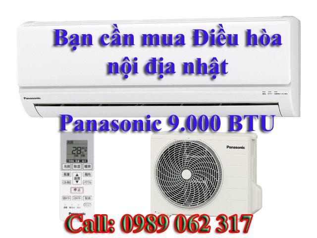 Điều Hòa nội địa Panasonic xuất xứ nhật 9.000BTU
