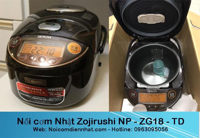 Nồi cơm điện Nhật Zojirushi NP-ZG18-TD Mới, Giá rẻ Ưu đãi nhất Hải Phòng
